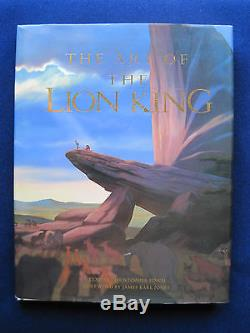WALT DISNEY ART OF THE LION KING SIGNED by Artists & ORIGINAL DRAWING