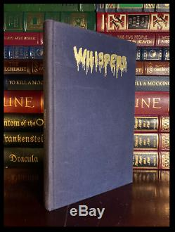 Whispers SIGNED by STEPHEN KING Limited Edition Cloth Bound Hardback 1/350
