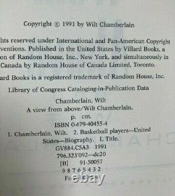 Wilt Chamberlain Signed A VIEW FROM ABOVE Book-1991 1st Edition, Good Condition