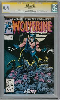 Wolverine #1 1988 Cgc 9.4 Signature Series Signed Chris Claremont Marvel Movie